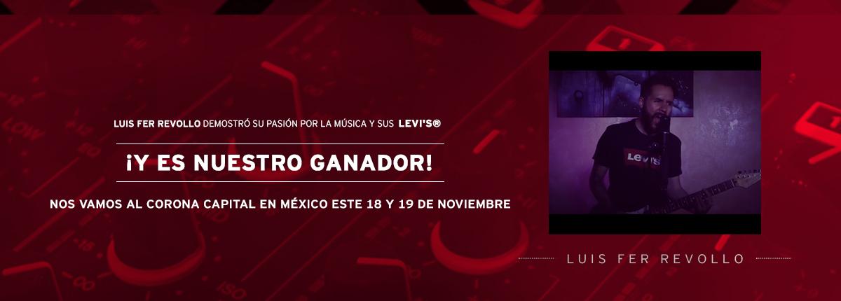 luis fer revollo demostró su pasión por la música y sus levis y es nuestra ganadora nos vamos al corona capital en méxico este 18 y 19 de noviembre