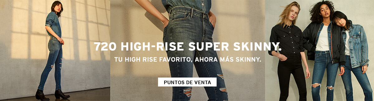 720 high rise super skinny levis jeans